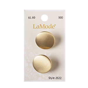 Satin Gold Button, 22mm
