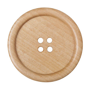 Huge Light Wood Button, 5cm