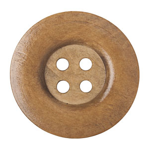 Huge Coffee Wood Button, 5cm