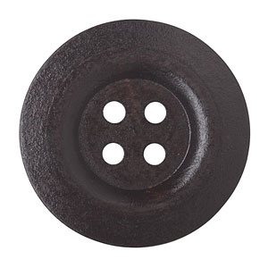 Huge Dark Wood Button Wide Edge, 5cm