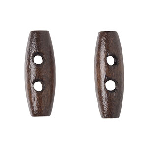 Dark Brown Wood Toggle, 20mm