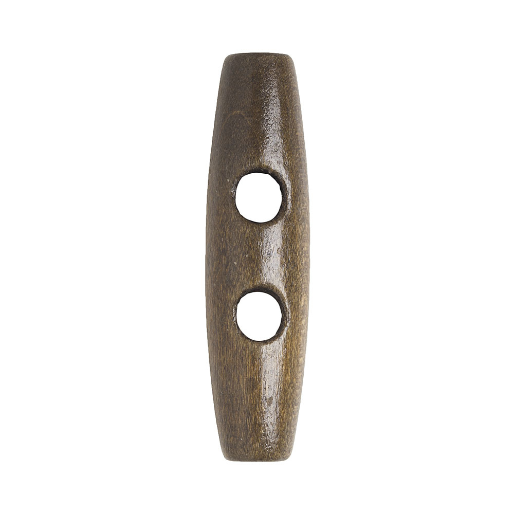 Light Brown Wood Toggle, 5cm