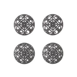 Gunmetal Buttons, 18mm