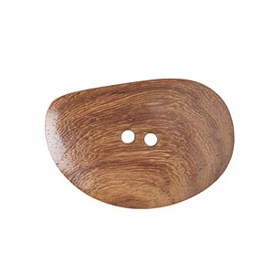 Natural Shaped Wood Button, 5cm