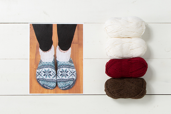 Frost Slippers Pattern Kit