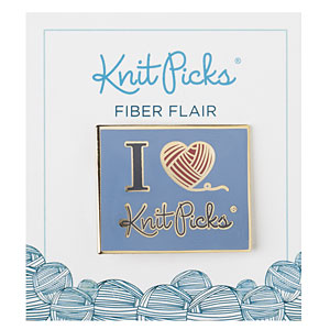I Heart Knit Picks Enamel Pin