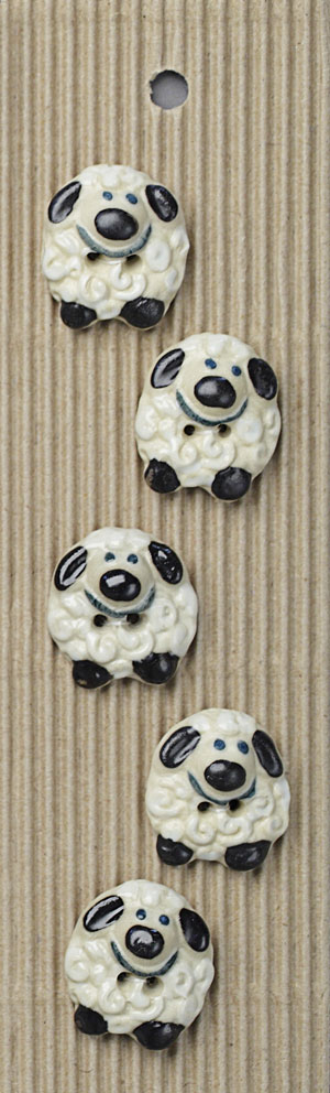 Handmade Sheep Stoneware Buttons