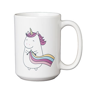 Sparkles the Knitting Unicorn 15oz Mug