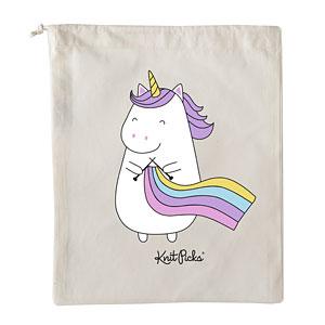 Unicorn Knitting Books : Sparkles the knitting unicorn project bag from knitpicks