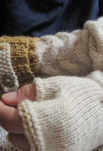 Shake the Barley Fingerless Gloves Pattern Pattern