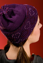 Beaded Hearts Beanie Pattern Pattern