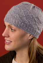 Purled Diamonds Hat Pattern Pattern