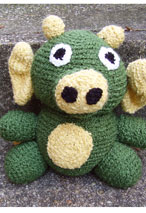 Morris the Dragon Crochet Toy Pattern Pattern