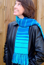 Fabulous Fibonacci Double Knit Scarf Pattern