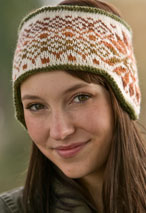 Klondike and Snow Reversible Fair Isle Headband Pattern Pattern