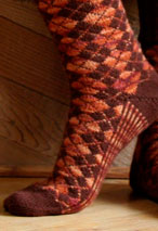 2-Stranded Argyle Socks Pattern