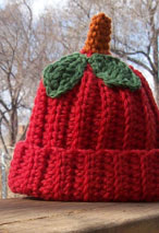 Apple Of My Eye Crochet Baby Hat & Booties Pattern