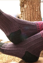 Herringbone Slip Stitch Socks Pattern
