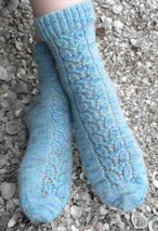Airy Lace Panel Socks Pattern