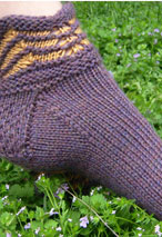 Purple Mountains Slipper Socks Pattern