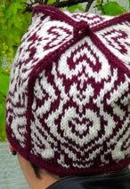 4 of Hearts Hat Pattern