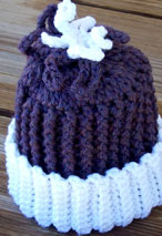 Frozen Flower Crochet Baby Hat Pattern