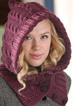Through the Woods Hooded Neck  Warmer & Cuffs Pattern