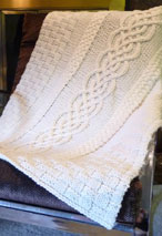 Cabled Wedding Blanket Pattern
