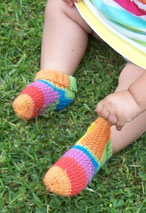 Baby Slipper Crochet Socks Pattern