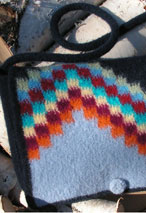 Northern Lights Felted Messenger Purse Pattern
