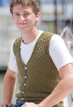 Men's Swish Crochet Vest Pattern