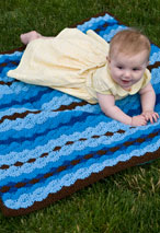 Shell Stitch Snuggle Blanket Pattern