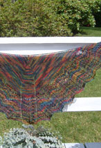 Twin Leaf Shoulder Shawl Pattern