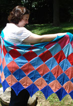 Summer Diamonds Shawl Pattern