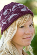 Abstract Vine Hat Pattern