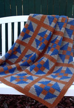 Double-Crossed Diamonds Crochet Afghan Pattern