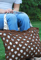 Arched Crochet Handbag