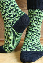 Art Deco Socks Pattern