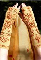 Knit Body Art Fingerless Gloves Pattern