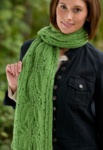 Falling Leaves Scarf Pattern