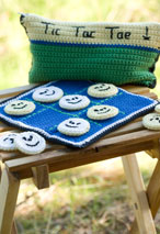 Crocheted Tic Tac Toe Game Set Pattern