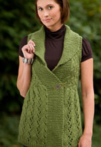 Long Lace Shawl-Collared Vest Pattern