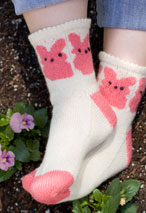 Marshmallow Bunnies Socks Pattern