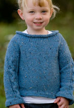 Racing Stripes Child Sweater Pattern