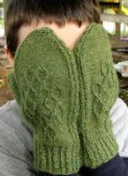 Daisy Ruth Cabled Mittens Pattern