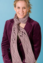 Window Pane Scarf Pattern