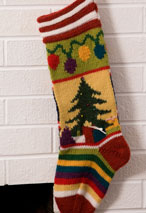 Mix-It-Up Christmas Intarsia Stocking Pattern Pattern