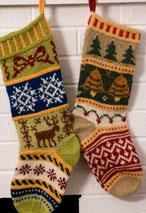 Mix-It-Up Christmas Stranded Stocking Pattern Pattern