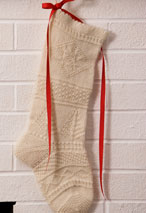 Mix-It-Up Textured Christmas Stocking Pattern Pattern