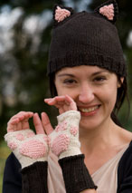 Kitty Cat Paw Mitts and Hat Pattern